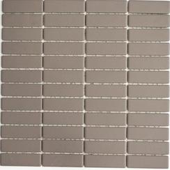 Mosaik 2x7cm Rutschhemmend grau