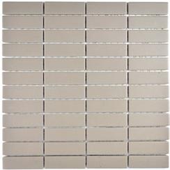 Mosaik 2x7cm Rutschhemmend hellgrau