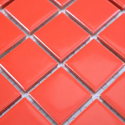 Color Mosaik 2,5 cm Rot