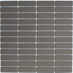 Mosaik 2x7cm Rutschhemmend braun