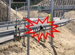 設置事例:北海道 白糠町 高速道路入り口