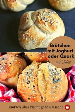 Quark-Brötchen über Nacht gehen lassen Zimmertemperatur #brötchen #joghurt #übernacht