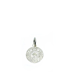 kleiner runder 925 Silber Mandala Ketten Anhänger