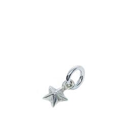 ★ dreidimensionaler Sternanhaenger für Herren, Damen, Kinder Halsketten.  echt Silber mini kleiner stern für schmuck.