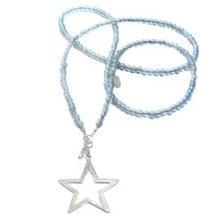 moderne stern kette silber ★ lange Kette mit Stern, Kette stern, Sternenkette mit Anhänger Stern ★ Kette mit Sternanhänger charm.