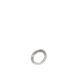 geometrisch, eleganter moderner Ring Kreis Offen Kettenanhänger aus 925 Silber mattiert für Damen Halsketten. Casual Outfits