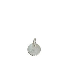 geometrischer Schmuckanhänger, runder Kreis aus 925 Silber. Klein und fein .