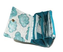 detail intérieur portefeuille compact femme porte-cartes porte-monnaie