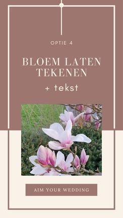 bloem tekenen
