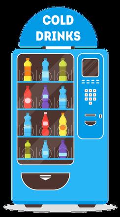 gekühlter Getränkeautomat