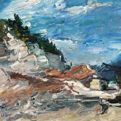 Viktor Lederer, Öl auf Leinwand, Ausstellung, Wien, galerie artziwna