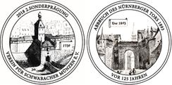 Sondermedaille 2018 auf den Abbruch des Nürnberger Tors vor 125 Jahren
