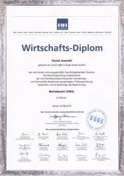 Diplom zum Betriebswirt