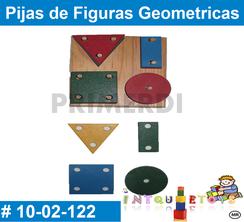 Pijas de Figuras Geometricas MATERIAL DIDACTICO MADERA INTQUIETOYS PRIMERDI