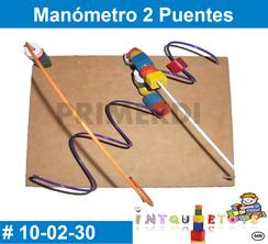 Manometro 2 puentes MATERIAL DIDACTICO MADERA INTQUIETOYS PRIMERDI