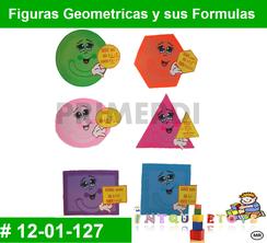 Figuras Geometricas y sus Formulas MATERIAL DIDACTICO FOAMY  INTQUIETOYS PRIMERDI