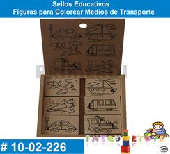 Figuras para Colorear Medios de Transporte MATERIAL DIDACTICO MADERA INTQUIETOYS PRIMERDI