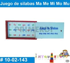 Juego de Silabas Ma Me Mi Mo Mu MATERIAL DIDACTICO MADERA INTQUIETOYS PRIMERDI