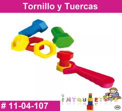 Tornillo y Tuercas MATERIAL DIDACTICO PLASTICO INTQUIETOYS PRIMERDI