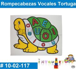 Rompecabezas Vocales Totuga MATERIAL DIDACTICO MADERA INTQUIETOYS PRIMERDI