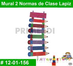 Mural 2 Normas de Clase Lapiz MATERIAL DIDACTICO FOAMY  INTQUIETOYS PRIMERDI
