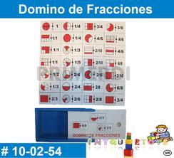 Domino de Fracciones MATERIAL DIDACTICO MADERA INTQUIETOYS PRIMERDI