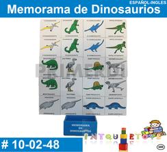 Memorama de Dinosaurios MATERIAL DIDACTICO MADERA INTQUIETOYS PRIMERDI