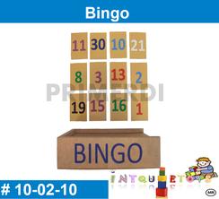 Juego Bingo de madera MATERIAL DIDACTICO MADERA INTQUIETOYS PRIMERDI