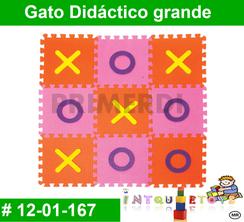 Tapete Gato Didáctico en Foammy MATERIAL DIDACTICO FOAMY  INTQUIETOYS PRIMERDI