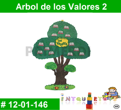 Arbol de los Valores 2 MATERIAL DIDACTICO FOAMY  INTQUIETOYS PRIMERDI