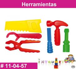 Herramientas MATERIAL DIDACTICO PLASTICO INTQUIETOYS PRIMERDI