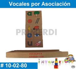 Vocales por Asociacion MATERIAL DIDACTICO MADERA INTQUIETOYS PRIMERDI