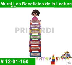 Mural Los Beneficios de la Lectura MATERIAL DIDACTICO FOAMY  INTQUIETOYS PRIMERDI