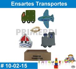 Ensartes Transportes MATERIAL DIDACTICO MADERA INTQUIETOYS PRIMERDI