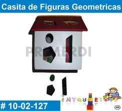 Casita de Figuras Geometricas MATERIAL DIDACTICO MADERA INTQUIETOYS PRIMERDI