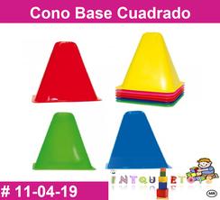 Cono Base Cuadrado MATERIAL DIDACTICO PLASTICO INTQUIETOYS PRIMERDI