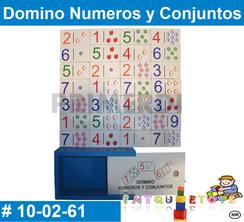 Domino Numeros y Conjunto MATERIAL DIDACTICO MADERA INTQUIETOYS PRIMERDI