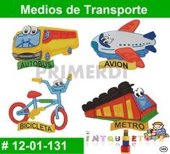 Medios de Transporte MATERIAL DIDACTICO FOAMY  INTQUIETOYS PRIMERDI