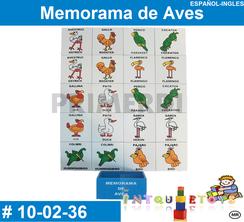Memorama de Aves MATERIAL DIDACTICO MADERA INTQUIETOYS PRIMERDI