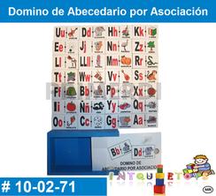 Domino de Abecedario por Asociación MATERIAL DIDACTICO MADERA INTQUIETOYS PRIMERDI