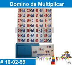 Domino de Multiplicar MATERIAL DIDACTICO MADERA INTQUIETOYS PRIMERDI