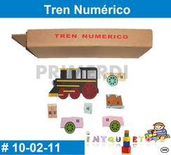 Tren Numerico de madera MATERIAL DIDACTICO MADERA INTQUIETOYS PRIMERDI