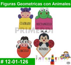 Figuras Geometricas con Animales MATERIAL DIDACTICO FOAMY  INTQUIETOYS PRIMERDI