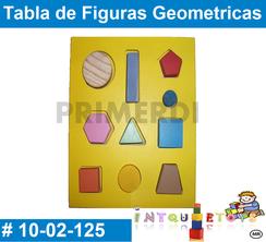 Tabla de Figuras Geometricas MATERIAL DIDACTICO MADERA INTQUIETOYS PRIMERDI