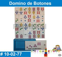 Domino de Botones MATERIAL DIDACTICO MADERA INTQUIETOYS PRIMERDI