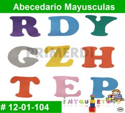 Abecedario Mayusculas MATERIAL DIDACTICO FOAMY  INTQUIETOYS PRIMERDI