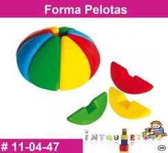 Forma Pelotas MATERIAL DIDACTICO PLASTICO INTQUIETOYS PRIMERDI