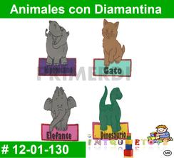 Animales con Diamantina MATERIAL DIDACTICO FOAMY  INTQUIETOYS PRIMERDI