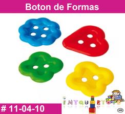 Boton de Formas MATERIAL DIDACTICO PLASTICO INTQUIETOYS PRIMERDI
