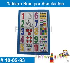 Tablero Num por Asociacion MATERIAL DIDACTICO MADERA INTQUIETOYS PRIMERDI